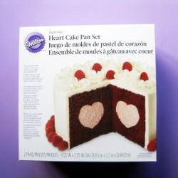 MOLDE CAKE PAN SET CORAZON Wilton