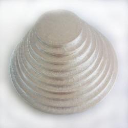 BASE REDONDA PLATEADA 25x1 cm. FunCakes