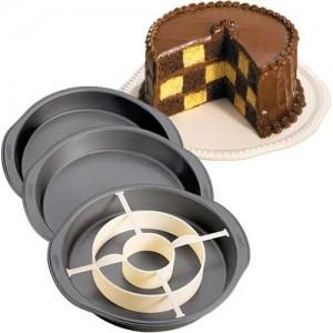 MOLDE CAKE PAN SET AJEDREZ Wilton