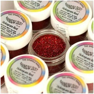 Sparkles Hologram Red Rainbow Dust