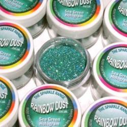 Sparkles Hologram Sea Green Rainbow Dust