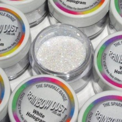 Sparkles Hologram White Rainbow Dust