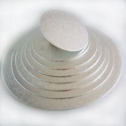 BASE REDONDA PLATEADA FINA 35 cm. FunCakes