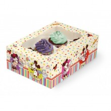 CAJA MINNIE Y MICKEY 6 CUPCAKES Disney