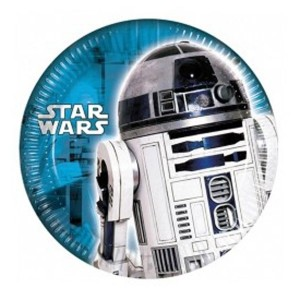 PLATOS STAR WARS R2D2 20 cm. PACK x8