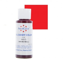 Colorante para chocolate Americolor, color Rojo 59 ml.