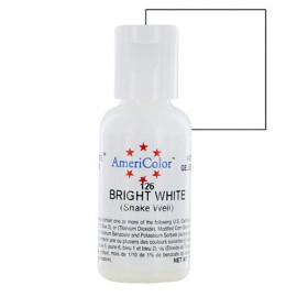 Colorante gel blanco brillante 'Bright White' Americolor 21 gr.