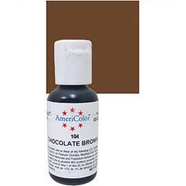 Colorante gel marrón chocolate 'Chocolate Brown' Americolor 21 gr.