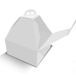 Caja cuadrada alta en color blanco para tartas 24x24x28 cm