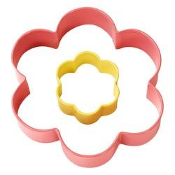 Cortante de galletas con forma de flor, 2uds