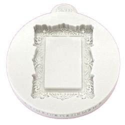 Molde silicona Katy Sue Designs, marco rectangular diseño vintage