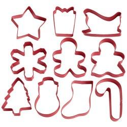 Set de 10 cortantes de Navidad Wilton