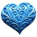 Molde de silicona con diseño de corazon con filigranas First Impression