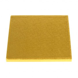 Base cuadrada 35x35 cm. para tartas en color oro Culpitt