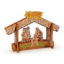 Laminás cortapastas Tescoma para preparar el Portal de Belén de navidad con galletas.