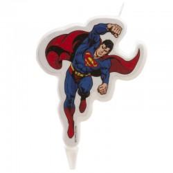Vela Dekora para decoracion de postres y tartas, Superman diseño 2D