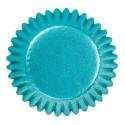 cupcakes, moldes cupcakes, magdalenas, Mini capsulas para bombones Wilton, azul aluminio, 72 uds