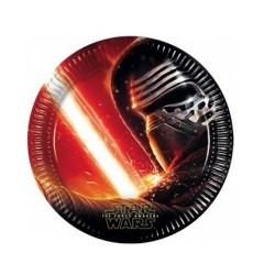 PLATOS Star Wars EPISODIO VII 23 cm. PACK x 8