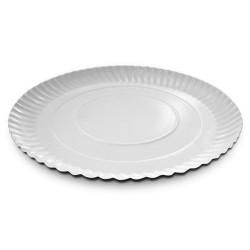 plato rizado plateado, base tartas