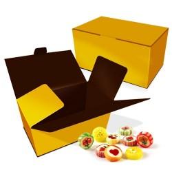 caja bombones, color champagne