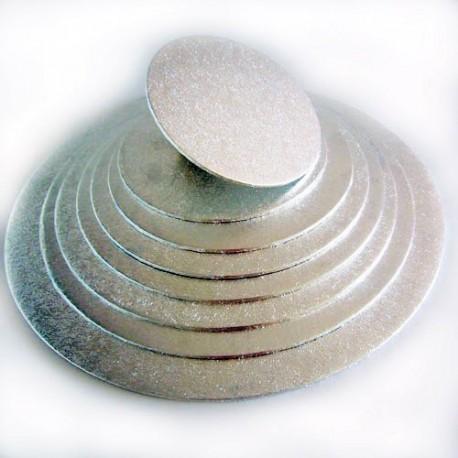 BASE REDONDA PLATEADA FINA 12,5 cm. FunCakes