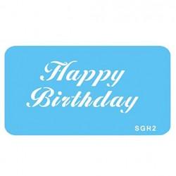 STENCIL Jem HAPPY BIRTHDAY
