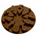 MOLDE SILICONA NUMEROS, bombones chocolate