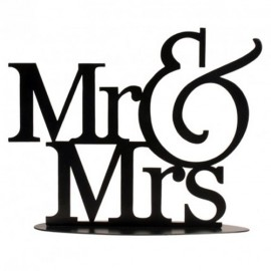 TOPPER METALICO Mr&Mrs,tartas de boda, Decora