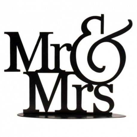 TOPPER METALICO deKora Mr&Mrs