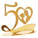 TOPPER METALICO 50 ANIVERSARIO, tartas de aniversario, Decora