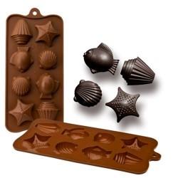 MOLDE SILICONA MUNDO MARINO, BOMBONES CHOCOLATE, ibili