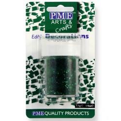 Virutas de purpurina comestible PME, color verde
