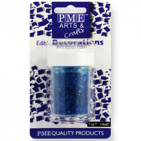 Virutas de purpurina comestible PME, color azul