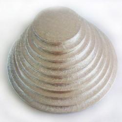 BASE REDONDA FunCakes PLATEADA 45,5x1 cm.