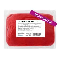 Fondant Caramela's color rojo. Tartas fondant