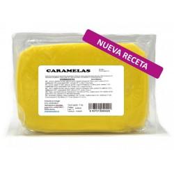 Fondant Caramelas color amarillo. Tartas fondant