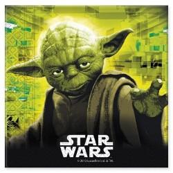 SERVILLETAS Star Wars Yoda 33x33 cm. PACK x20