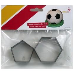 CORTANTES PELOTA FUTBOL, cortador hexagono y pentagono