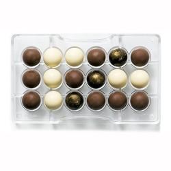 MOLDE POLICARBONATO Decora ESFERA, bombones chocolate esferas