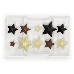 MOLDE POLICARBONATO Decora ESTRELLAS, bombones chcocolate estrella