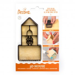 CORTANTE Decora CASA 3D, galletas casa 3D