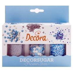SPRINKLES SET PERLITAS y COPOS DE NIEVE, decoracion azucar Decora