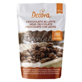 GOTAS de CHOCOLATE con LECHE Decora