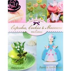 LIBRO Patricia Arribalzaga CUPCAKES, COOKIES y MACARONS de ALTA COSTURA