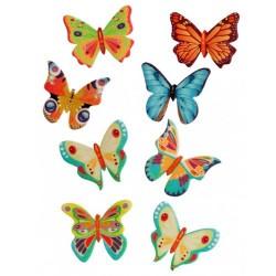 Decoración de azúcar Mariposas obleas x 8u