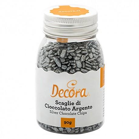 SPRINKLES Decora ESCAMAS CHOCOLATE PLATA