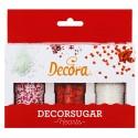 SPRINKLES SET PERLITAS y COZARONES ROJOS, decoracion azucar Decora