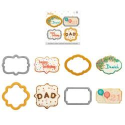 CORTANTE MARCOS, galletas forma de marcos, Decora