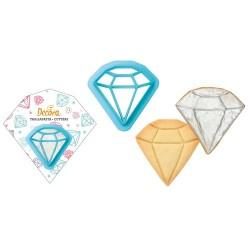 CORTANTE DIAMANTE, galletas forma diamante, Decora