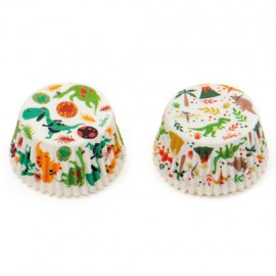 capsulas de dinosaurio, DECORA, moldes magdalenas, cupcakes